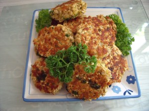 Oat cakes on plate