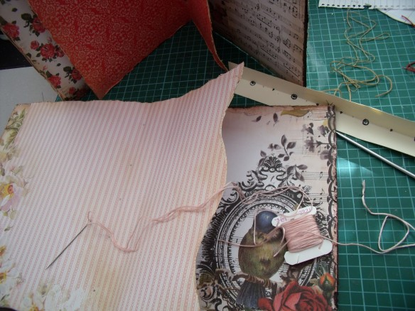 The signature ready for sewing to the spine inner