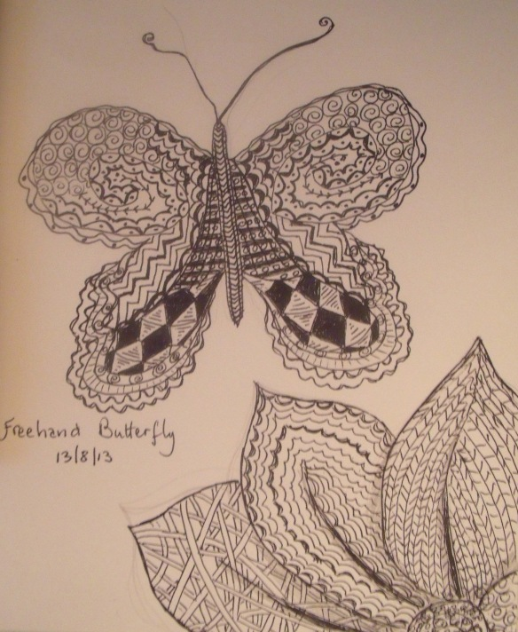 Doodle Butterfly 2 Aug 13