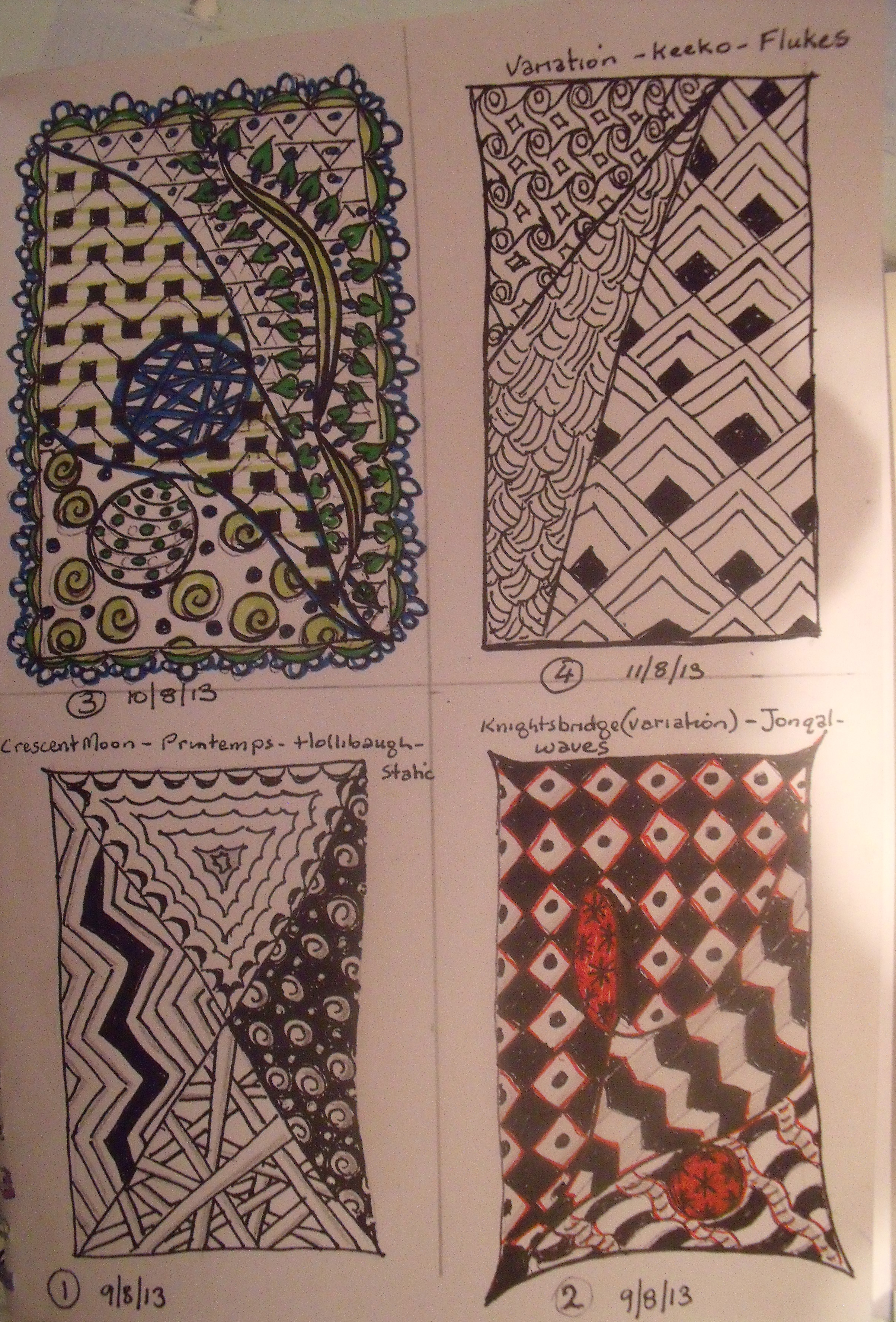 Zentangle First ones Aug 13