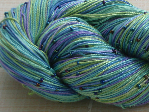 Silk Indian SIN 05 Beaded silk yarn